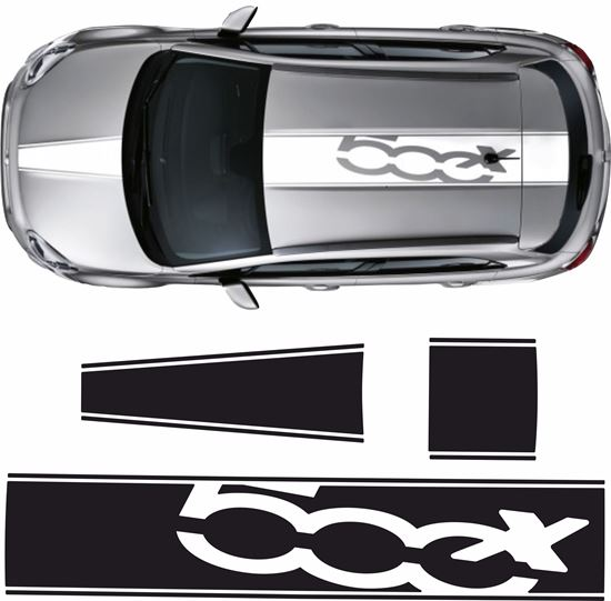 Picture of Fiat 500X Roof & Bonnet Stripes  / Stickers EXACT FIT