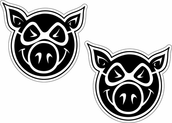 Picture of Pig Wheels Decals / Stickers