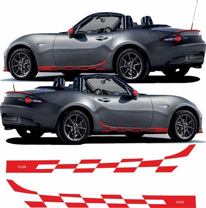 Picture of Mazda MX-5 Icon 2016 on side Stripes  / Stickers FACTORY FIT