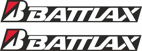 """Picture of """"Bridgestone Battlax"""" Decals / Stickers"""
