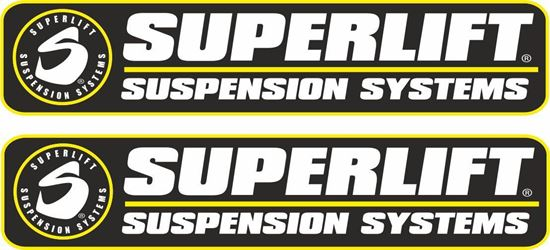 """Picture of """"Superlift Suspension Systems"""" Decals / Stickers"""