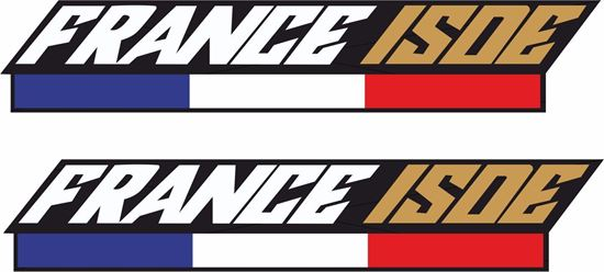 """Picture of """"France ISDE""""  Track and street race sponsor Decals / Stickers"""