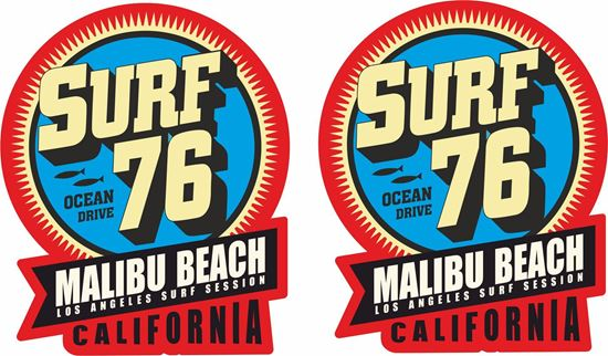 """Picture of """"Surf 76 Malibu Beach""""""""  Decals / Stickers"""