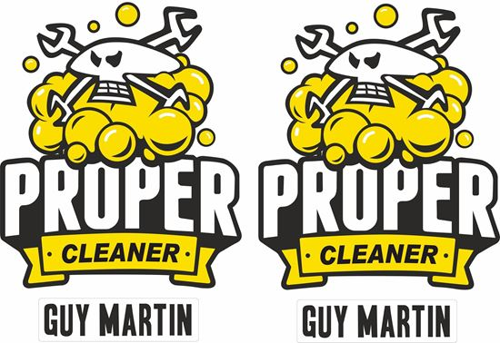 "Picture of Guy Martin ""Proper Cleaner"" Decals / Stickers"