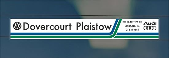 Picture of Dovercourt Plaistow - London Dealer rear glass Sticker
