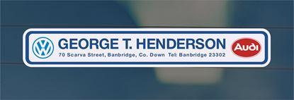Picture of George T.Henderson - Banbridge Dealer rear glass Sticker