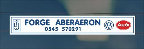 Picture of Forge - Aberaeron Dealer rear glass Sticker