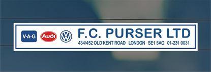 Picture of F.C. Purser Ltd - London Dealer rear glass Sticker
