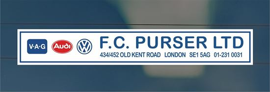 Picture of F.C. Purser Ltd - London Dealer rear glass Sticker