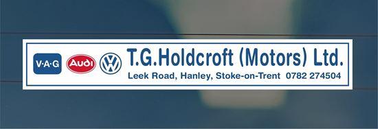Picture of T.G. Holdcroft - Stoke-on-Trent Dealer rear glass Sticker