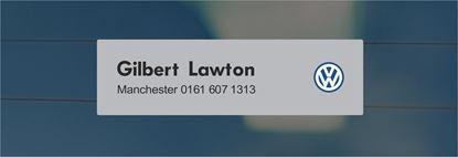 Picture of Gilbert Lawton - Manchester Dealer rear glass Sticker