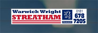 Picture of Warwick Wright - Streatham Dealer rear glass Sticker