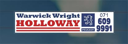 Picture of Warwick Wright - Holloway Dealer rear glass Sticker