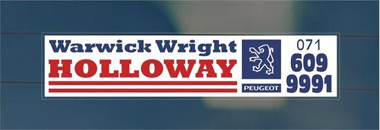 Picture of Warwick Wright - Holloway Dealer rear glass Sticker