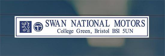 Picture of Swan National Motors - Bristol Dealer rear glass Sticker