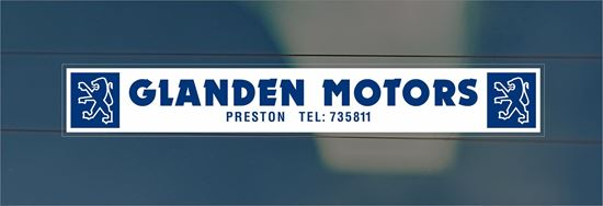 Picture of Glanden Motors- Preston  Dealer rear glass Sticker