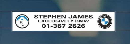 Picture of Stephen James Dealer rear glass Sticker