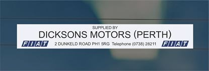 Picture of Dixons Motors - Perth Dealer rear glass Sticker
