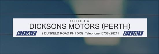 Picture of Dixons Motors - Perth Dealer rear glass Sticker