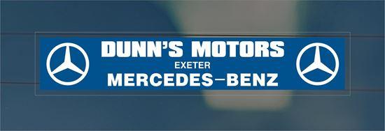 Picture of Dunn's Motors - Exeter Dealer rear glass Sticker