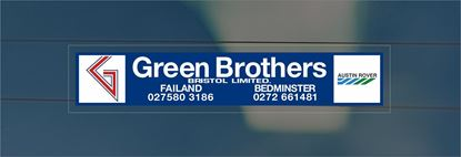 Picture of Green Brothers Dealer rear glass Sticker