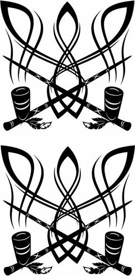 Picture of Indian Pipe Tribal  panel  Stickers / Decals