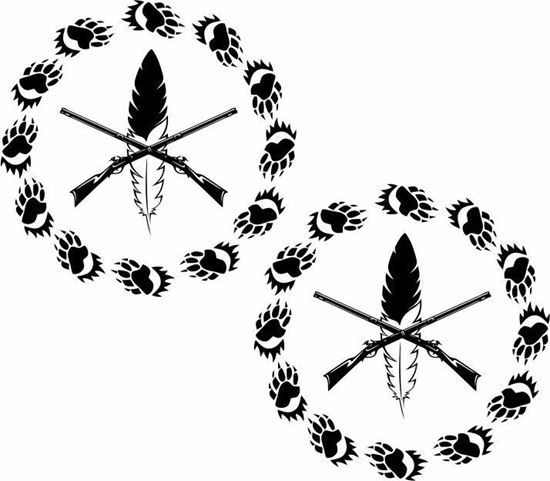 Picture of Indian Hunting logo panel Stickers / Decals