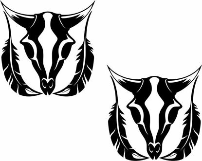 Picture of Feathers and Bull panel  Stickers / Decals