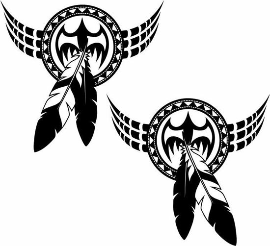 Picture of Feathers Designl panel  Stickers / Decals