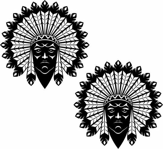 Picture of Indian panel Stickers / Decals