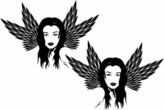 Picture of Girl panel Stickers / Decals