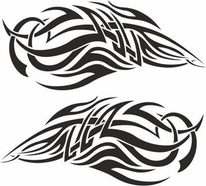 Picture of Tribal Flames panel Stickers / Decals