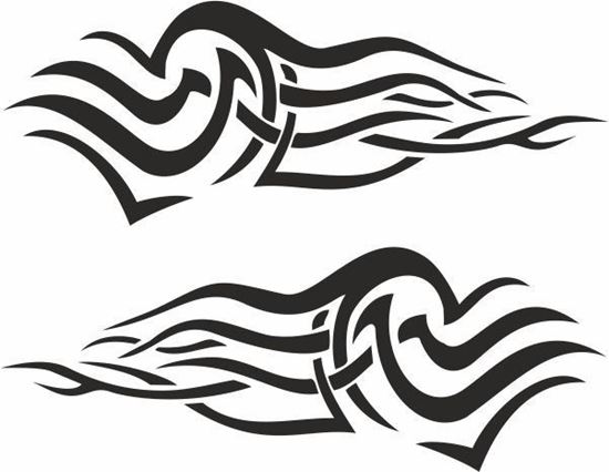 Picture of Tribal Flames panel Stickers / Decals - copy