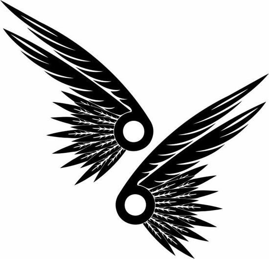 Picture of Handed Wing panel Stickers / Decals