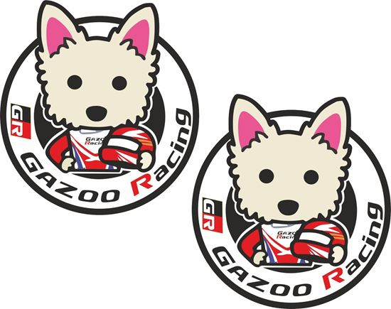 """Picture of """"GR Gazoo Racing""""  Decals / Stickers"""