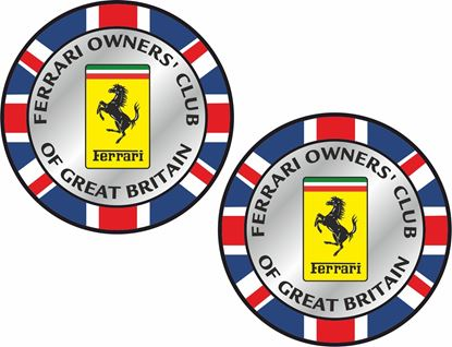 Picture of Ferrari owners Club Decals / Stickers