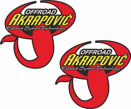 """Picture of """"Akrapovic Off Road"""" Decals / Stickers"""