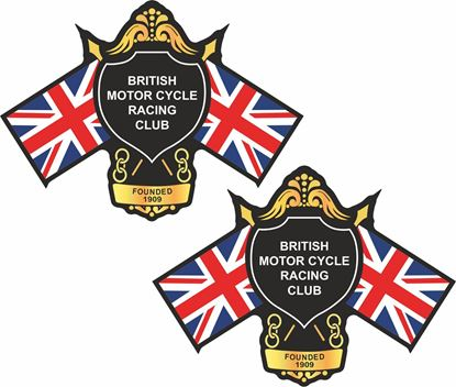 Picture of British Motorcycle Racing Club Decals / Stickers