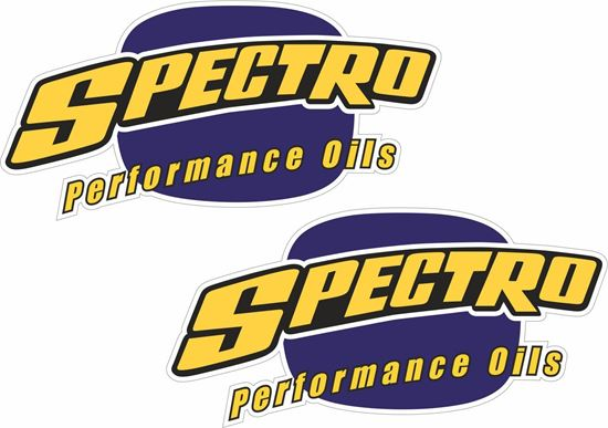 """Picture of """"Spectro Oils""""  Track and street race sponsor Decals / Stickers"""