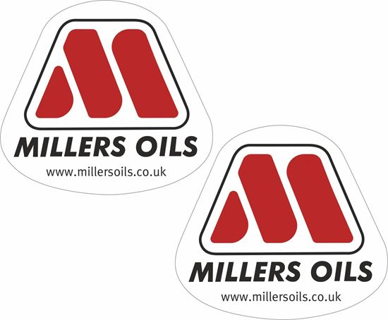 "Picture of ""Millers Oils"" Decals / Stickers"