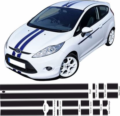 Picture of Ford Fiesta MK7  ST / ZS  OTT Stripes / Stickers  PANEL FIT