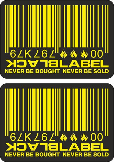 Picture of Black Label Decals / Stickers - copy