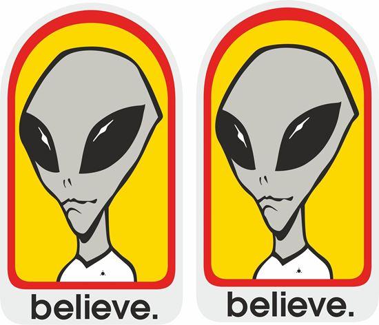 """Picture of Alien Workshop """"Believe""""Decals / Stickers"""