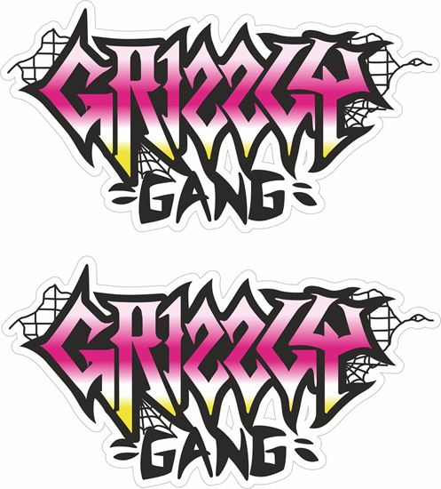 """Picture of """"Grizzly Gang"""" Decals / Stickers"""