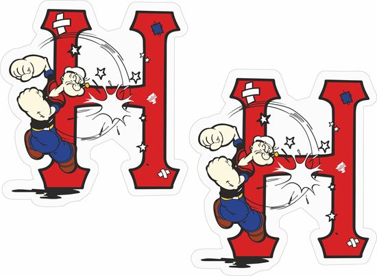 """Picture of """"Huf"""" Popeye Decals / Stickers"""