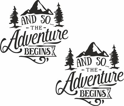 Picture of And so the Adventure Begins Decals  / Stickers