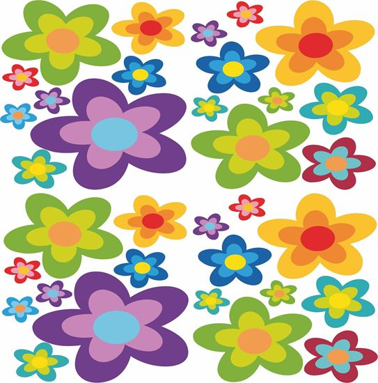 Picture of Floral Sticker sheet x32 Decals / Stickers 500mm x 500mm