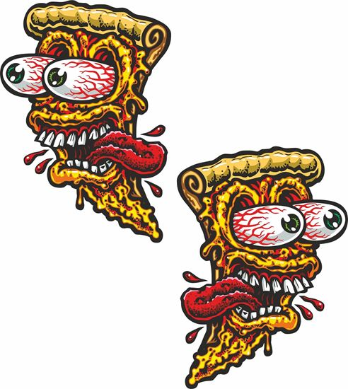 Picture of Pizza Face Decals / Stickers