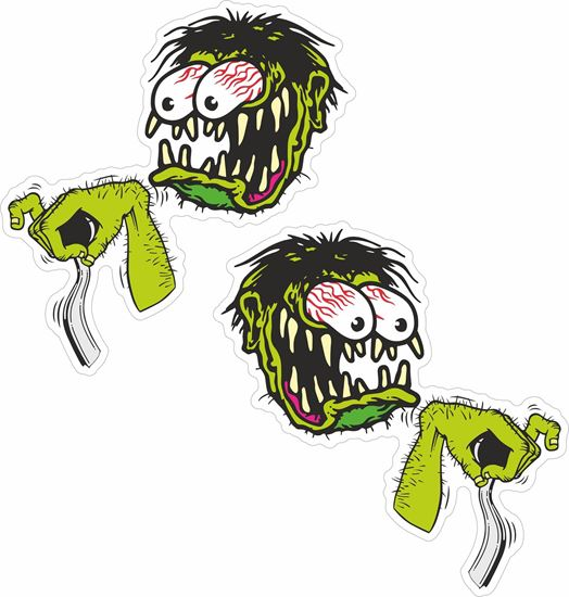 Picture of Zombie Gear Stick and Arm  Decals / Stickers