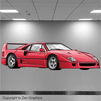 Picture of Ferrari F40 Wall Art sticker (Full Colour)